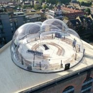 Smiljan Radić creates inflated transparent bubble for Alexander McQueen show