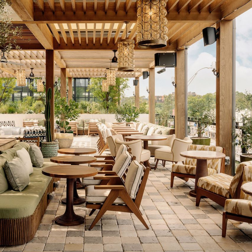 Outside terrace with seating