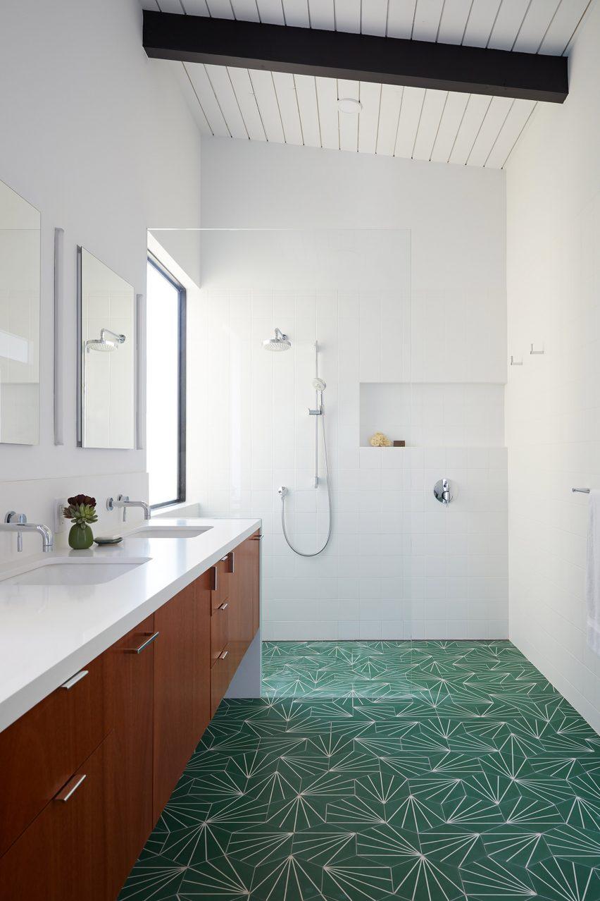 A bathroom was added