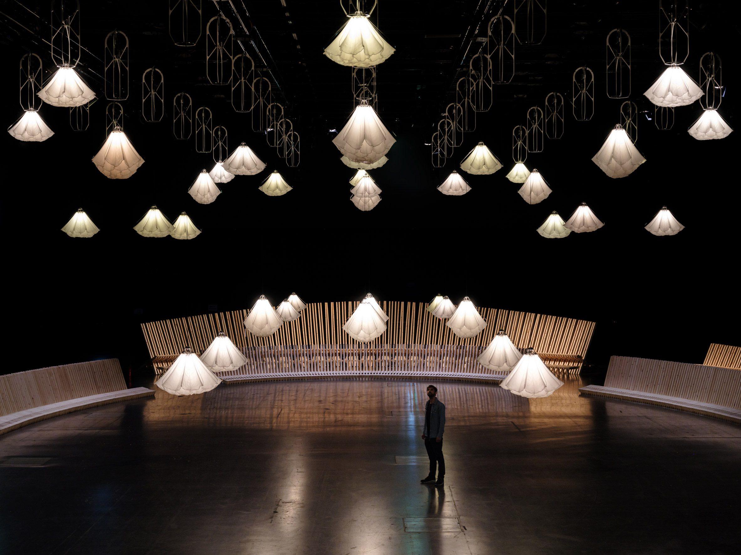 Studio Drift and Sou Fujimoto installation for Superblue