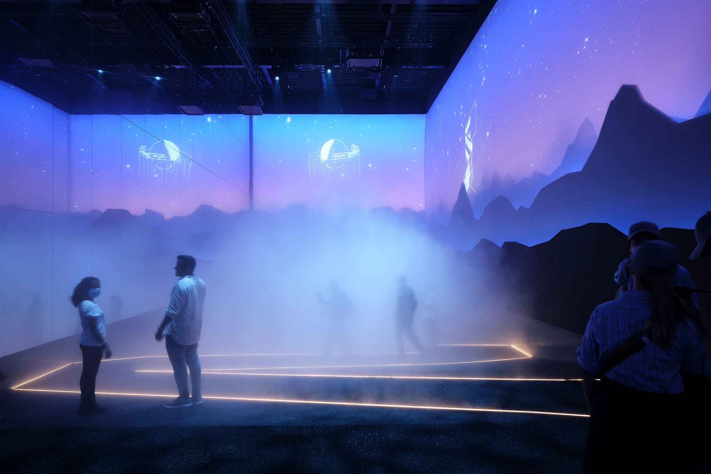 Fog-filled visitor attraction