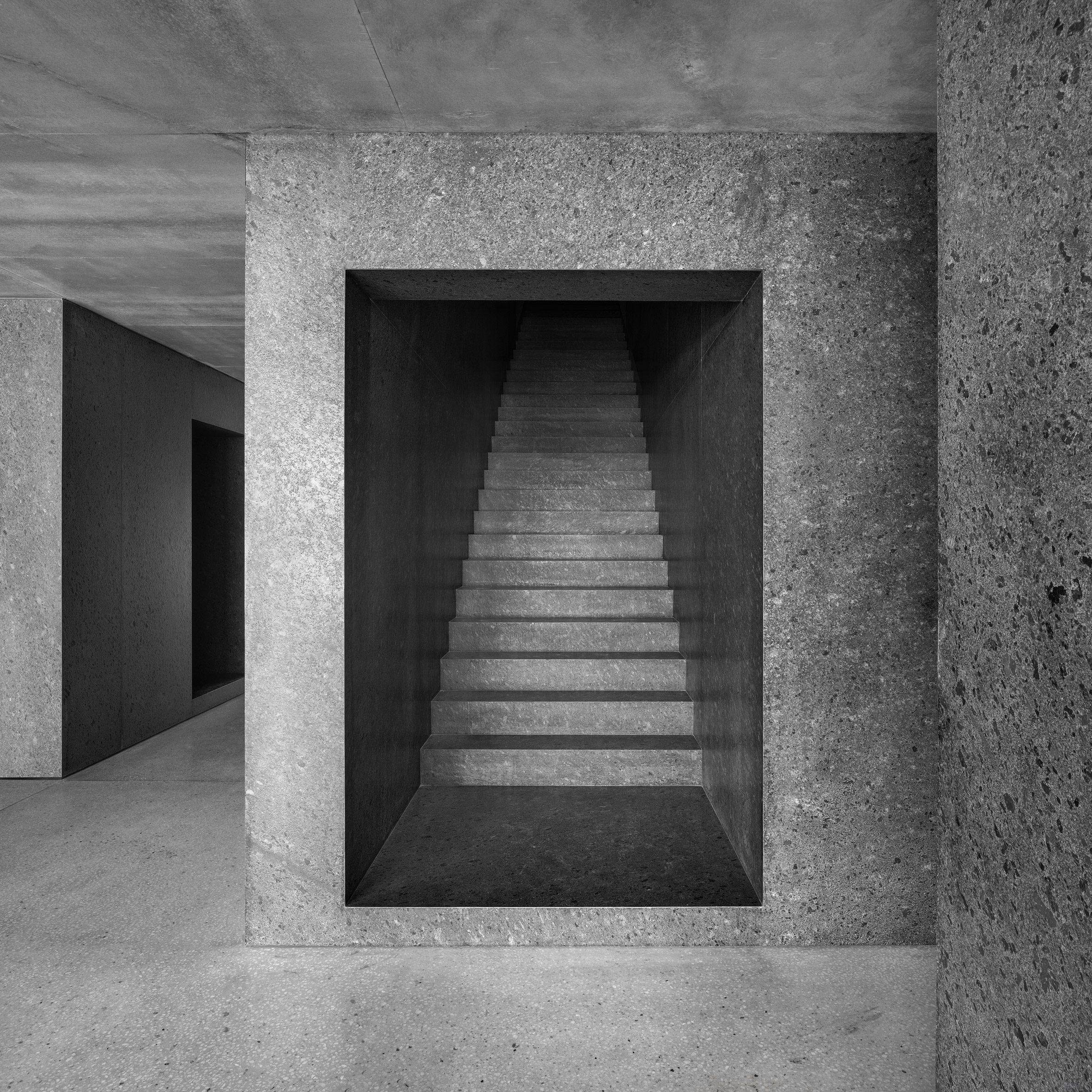Large granite staircase