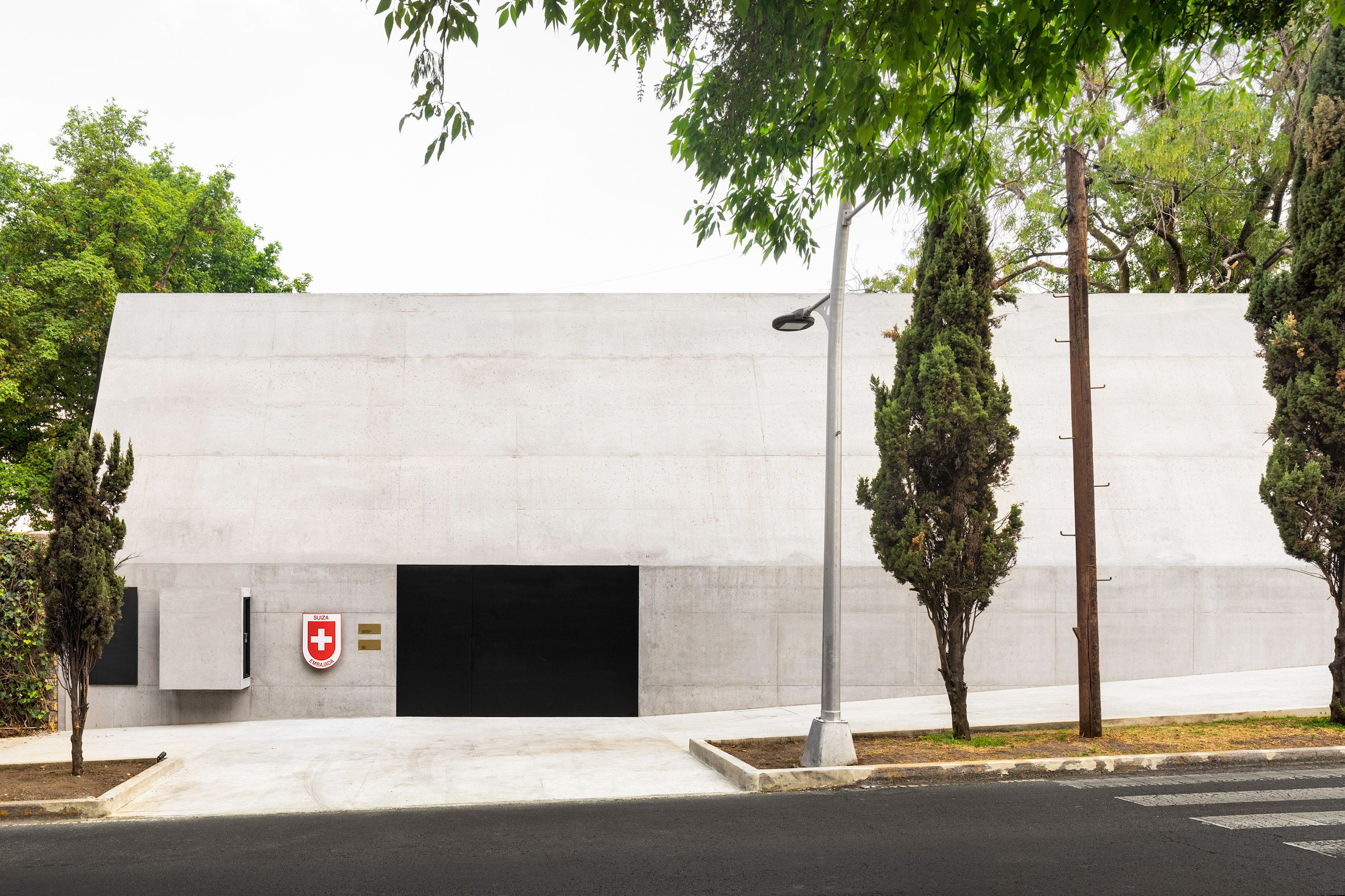 Concrete facade of Swiss residence