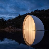 """Syn Architects tops wedding chapel in China with illuminated """"moon"""""""