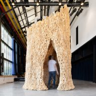 """The Living creates """"probiotic"""" architectural pavilion that supports living microbes"""