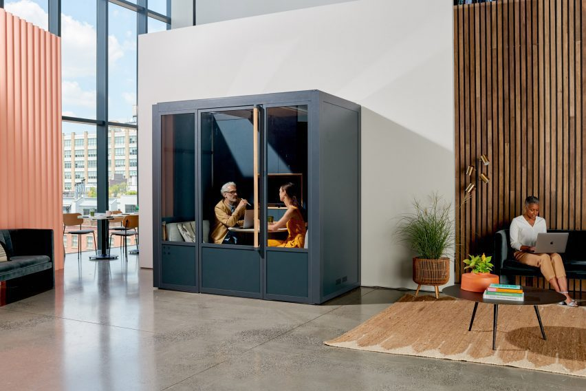 Modular conference space in dark