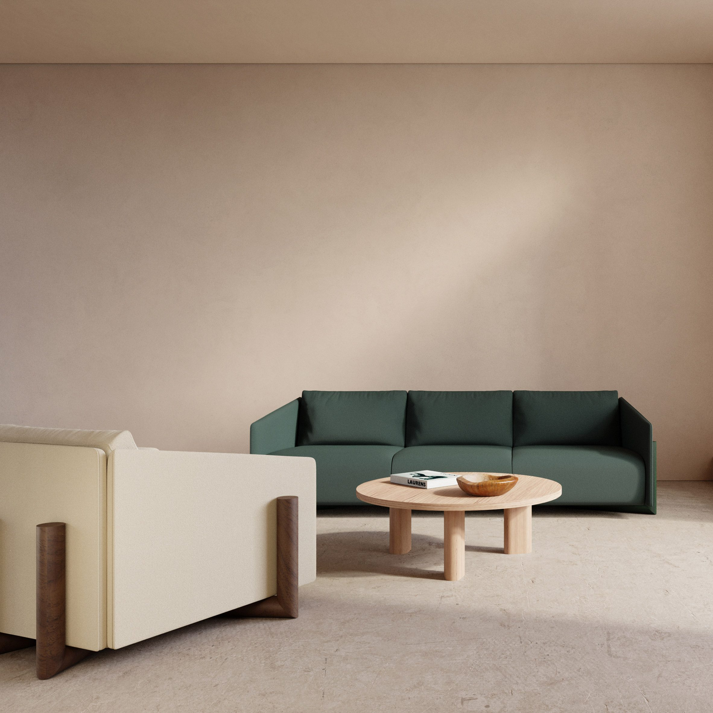 Timber seating collection by Charles Kalpakian for Kann Design