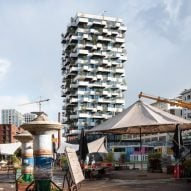 Stefano Boeri covers social housing tower with 10,000 plants