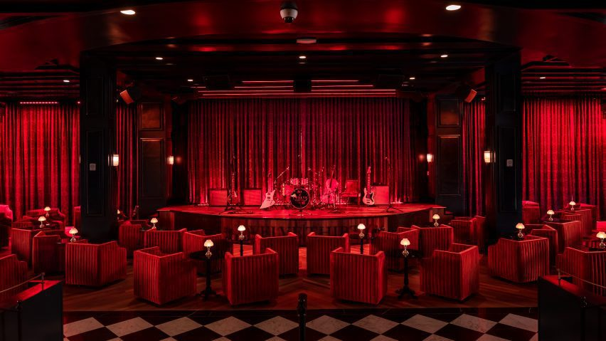 Performance space at The Supper Club