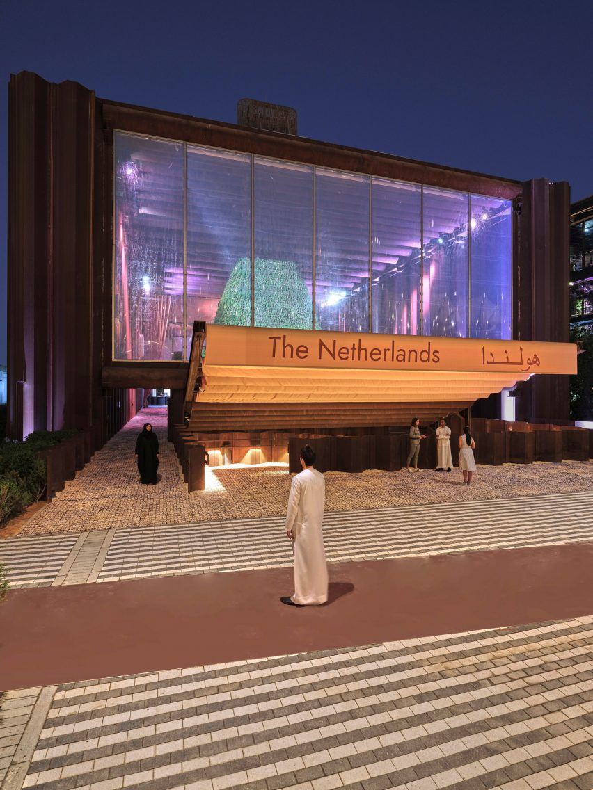 Exterior of The Netherlands' pavilion at Dubai Expo 2020