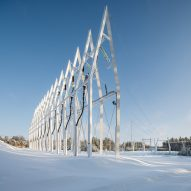 Virkkunen & Co designs sculptural substation and pylons in Finland