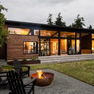 A dogtrot-style house in Washington features in today's Dezeen Weekly newsletter