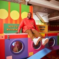 Yinka Ilori builds colourful Lego launderette in east London for kids to play in