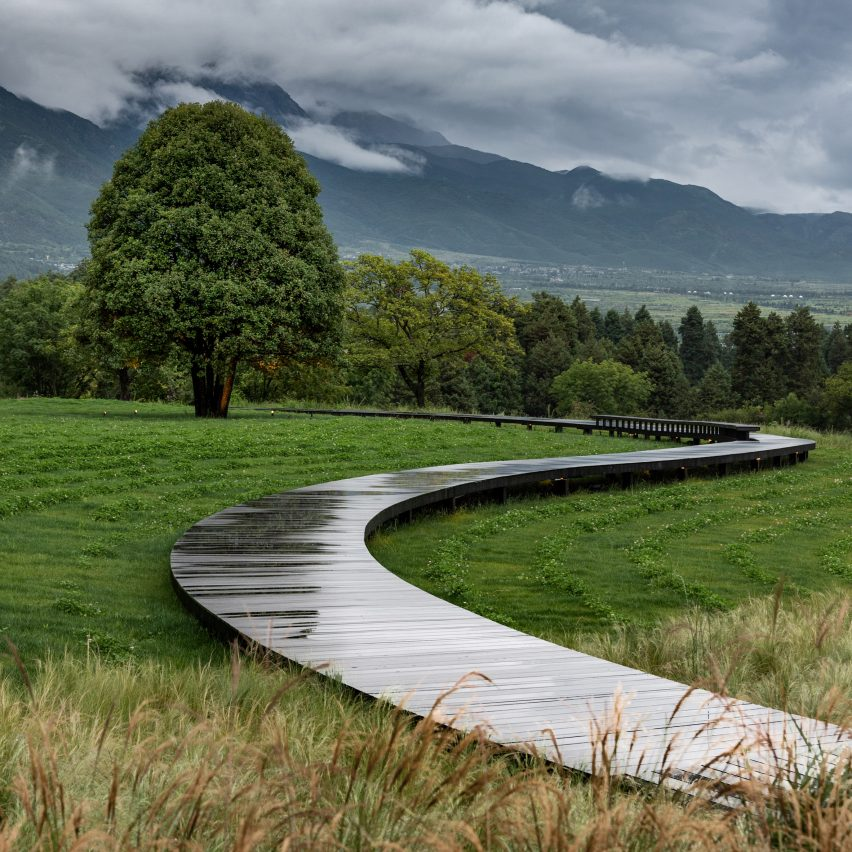 Winding paths lead around the garden